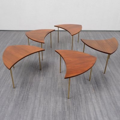 Pinwheel Tables in teak by Peter Hvidt & Orla Molgaard Nielsen, Denmark