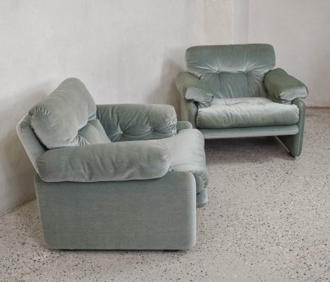 Pair of Coronado Armchairs by Afra & Tobia Scarpa for C&B Italia