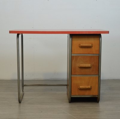 Tubular Plywood Writing Desk, 1950s