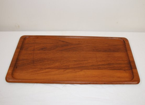 Narrow teak tray made by Digsmed Denmark