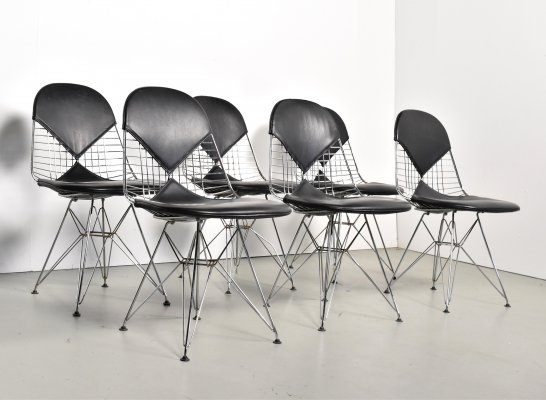 Set of 6 DKR Bikini dining chairs by Charles & Ray Eames for Herman Miller, 1960s