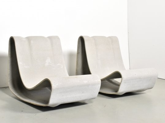 2 x Loop lounge chair by Willy Guhl for Eternit SA, 1990s