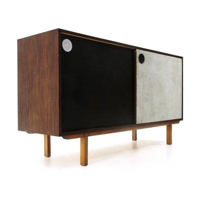 Sideboard with colored doors & internal chest of drawers, 1960s
