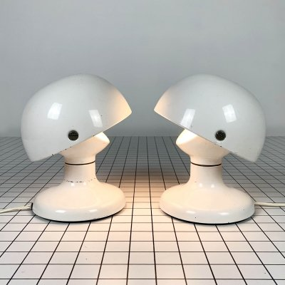 Pair of White Jucker 147 Table Lamps by Tobia & Afra Scarpa for Flos, 1960s