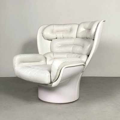 White Elda Lounge Chair by Joe Colombo for Comfort, 1960s