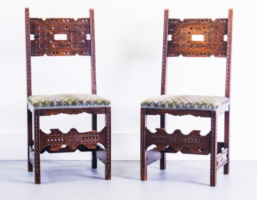Pair of Tramp Art Chairs, 1960s