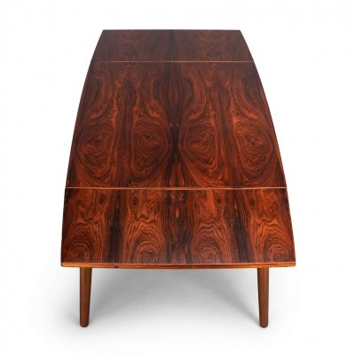Vintage Rosewood Extendable Table by Kai Kristiansen for FM Mobler, 1960s