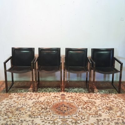 Set of 4 post modern dining chairs by Arrben, Italy 1980s