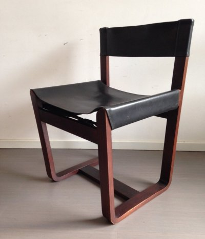 Set of 6 dining chairs by Gunther Hoffstead for Uniflex, 1960s