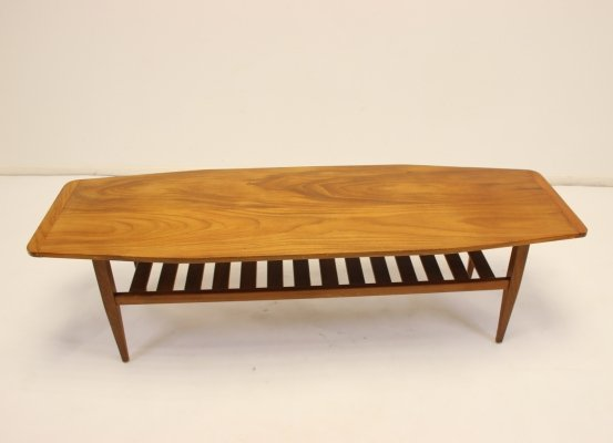 Teak coffee table with magazine rack
