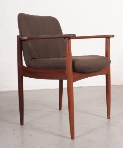 Danish desk chair in teak & wool, 1960s