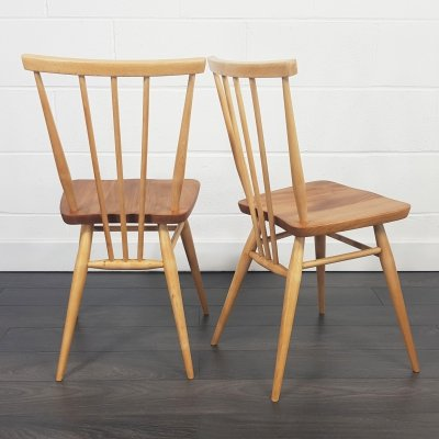 Ercol set of 2 Windsor Dining Chairs, 1960s