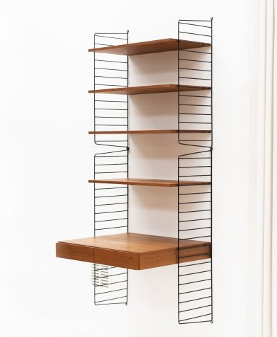 1-piece wall unit by Nisse Strinning for String, Sweden 1950's