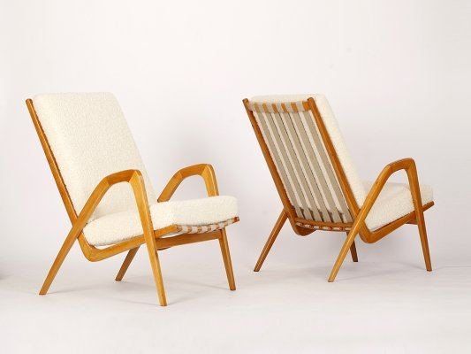 2 rare Midcentury Armchairs by Jan Vanek, 1960s