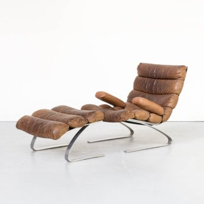 Adolf & Schräpfer 'Sinus' chair & ottoman for COR, 1970s