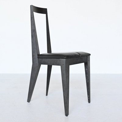 Fabiaan van Severen constructive side chair, Belgium 1980