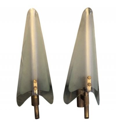 Two Mid-Century Modern wall sconces, 1950s