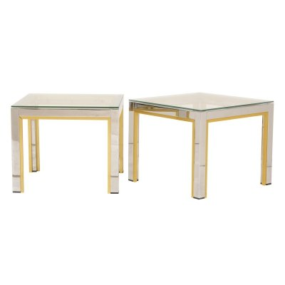 Pair of Side Tables by Renato Zevi, Italy c.1970