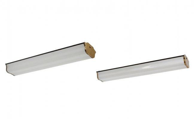 Pair of Italian design methacrylate ceiling lamps, 1960s