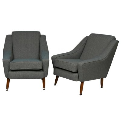 Pair of British Midcentury Armchairs, c.1960