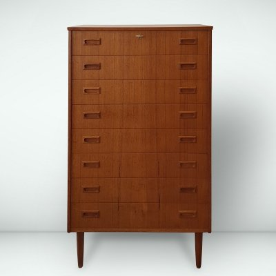 Danish design teak chest of drawers, 1960s