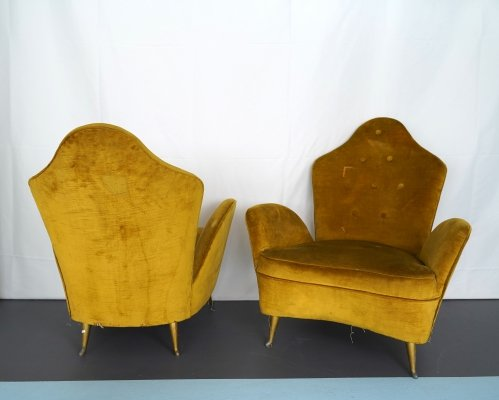 Set of two Midcentury Italian Armchairs by Cesare Lacca for Isa Bergamo, 1950s