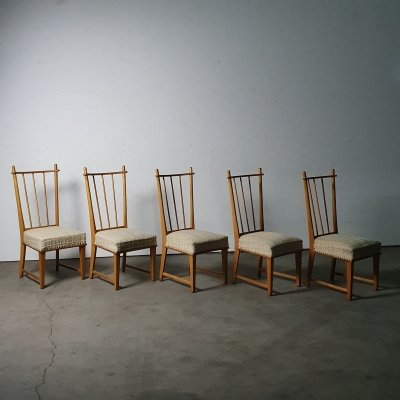 Very rare chair set by Bas van Pelt, 1930s