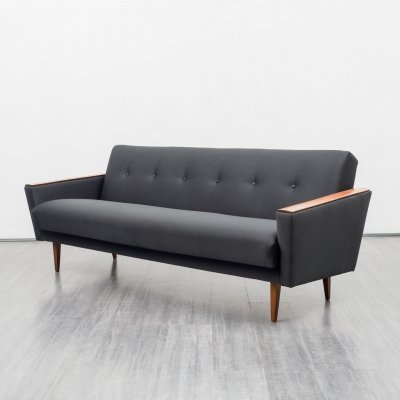 Mid Century 1960s sofa with fold-out guest bed