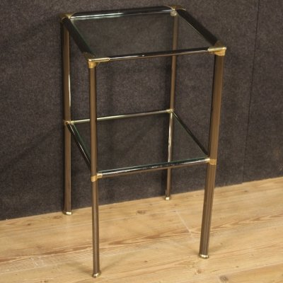 20th Century Metal & Glass Italian Design Side Table, 1980
