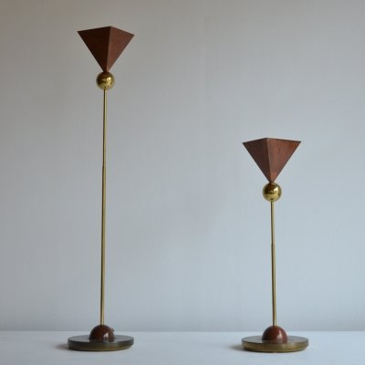 Pair of Italian table lamps, 1980s