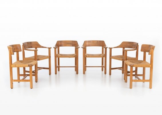 Set of 6 dining chairs by Rainer Daumiller for Hirtshals Savværk, 1970s