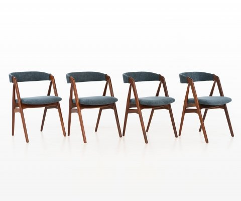 Set of 4 dining chairs by Th. Harlev for Farstrup Møbler, 1950s