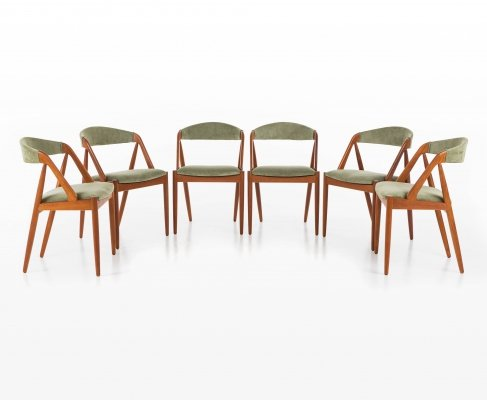 Set of 6 dining chairs by Kai Kristiansen for Schou Andersen Møbelfabrik, 1950s