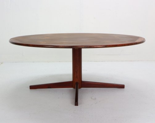 Midcentury Round Coffee Table in Rosewood, Netherlands 1960s