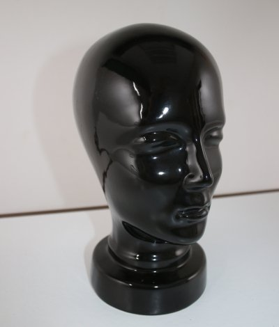 Ceramic black display head, W. Germany 1970s