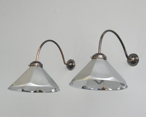 Pair of Belgian Art Deco Wall Lights, Circa 1920s