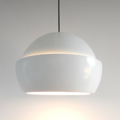 White pendant lamp by Svea Winkler for Orno, Finland 1960's