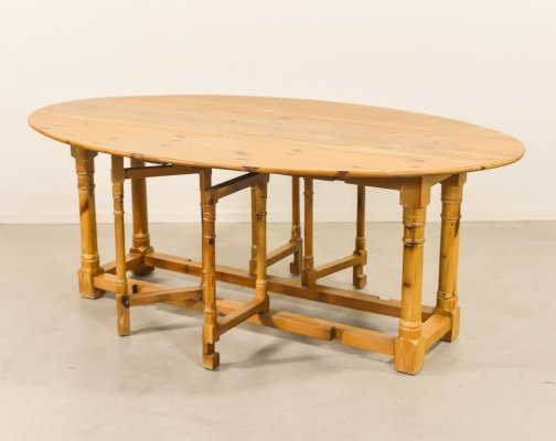1970's Scandinavian Modern pine gateleg table