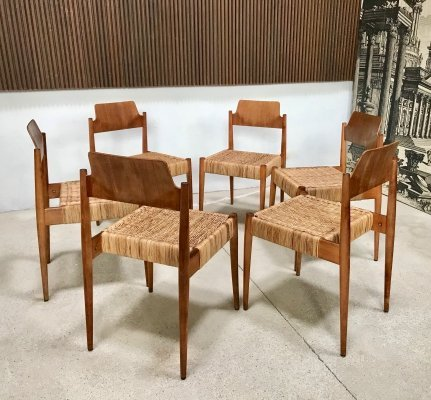 Set of 6 German SE119 Church Chairs by Egon Eiermann for Wilde + Spieth, 1950s
