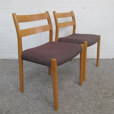Pair of Niels Otto Møller dining chairs, Denmark 1960s