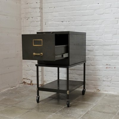 Roneo filing cabinet on wheels