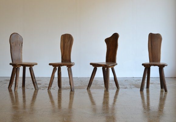 Set of 4 Sculptural Tony Bain Dining Chairs