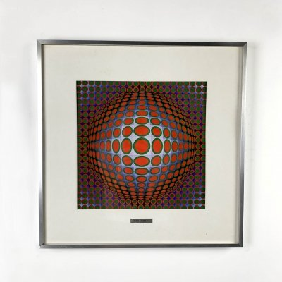 Vega 222 Serigraphy by Victor Vasarely, 1970s