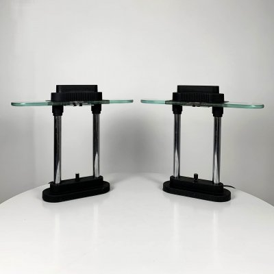 Pair of Modernist Table Lamps by Robert Sonneman for George Kovacs, 1980s