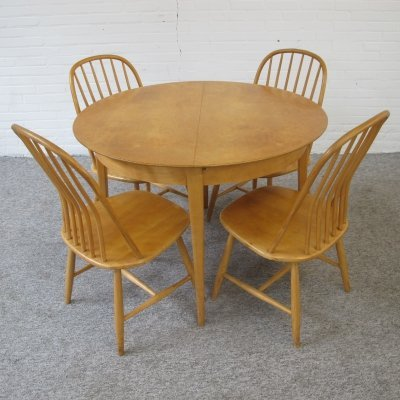Vintage dining set TB05 by Cees Braaman for UMS Pastoe, 1950s