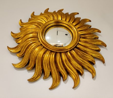 Mid century golden sunburst mirror, 1960s