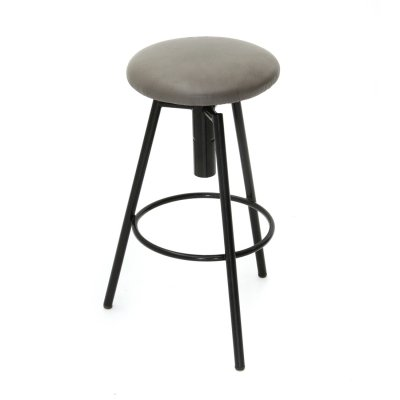 Metal stool with padded seat, 1960s