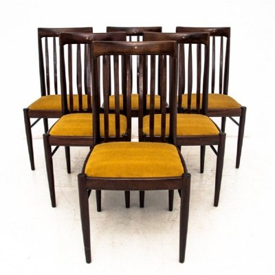 Set of 6 Yellow Dining Chairs by H.W. Klein, 1960s