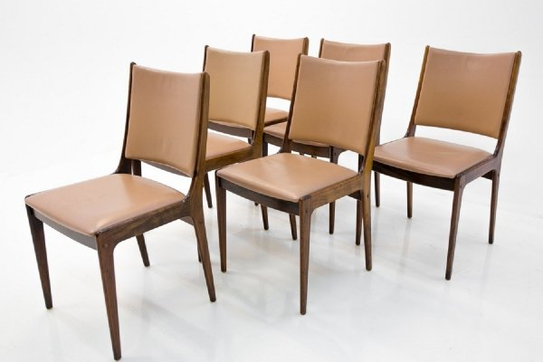 Set of 6 Rosewood Dining Chairs by Johannes Andersen, 1960s