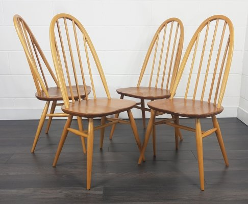 Ercol set of 4 Quaker Chairs, 1960s